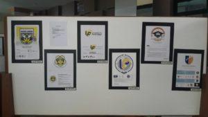 Beberapa desain peserta sayembara logo Universitas Pancasila