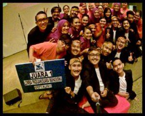 PSUP memperoleh prestasi Juara 1 Lomba Paduan Suara Mahasiswa Kopertis Wilayah III, 2015