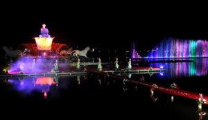 Penampilan Seni Tari dan Air Mancur saat Peresmian Tahap II Sri Baduga di Taman Sri baduga, Sabtu (09-01-2016)